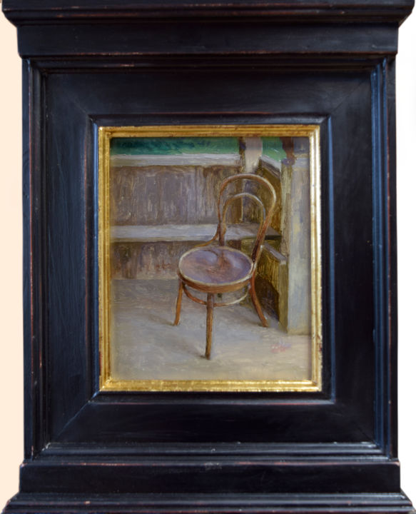 """Painting titled """"Study of the Chair"""" by Donatas Inis, Original Art, Oil"""