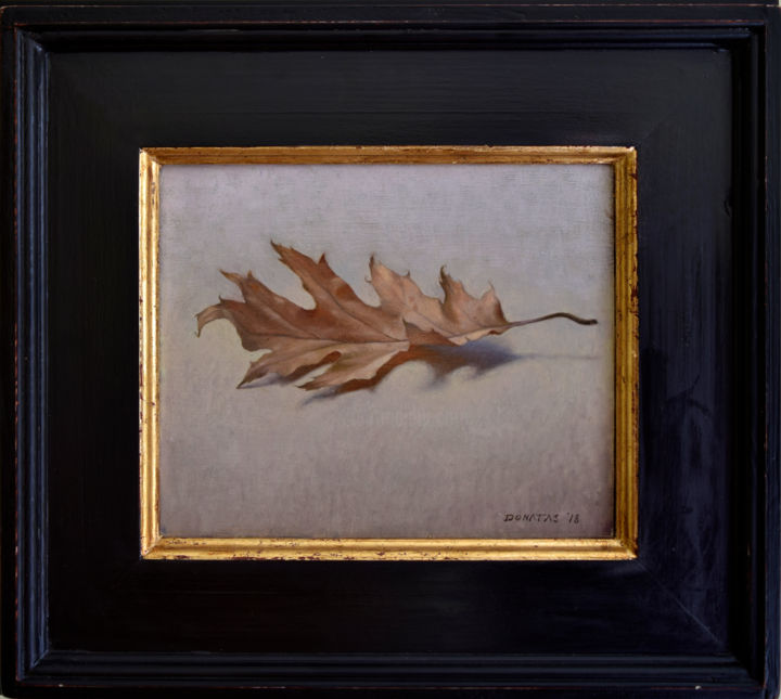 """Painting titled """"The Leaf"""" by Donatas Inis, Original Art, Oil"""