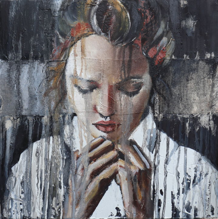 """Painting titled """"sach a shame"""" by Donatella Marraoni, Original Art, Oil"""