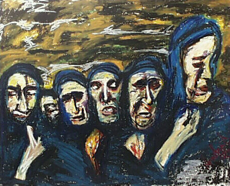 """Funeral"""" Painting by Dondavid 