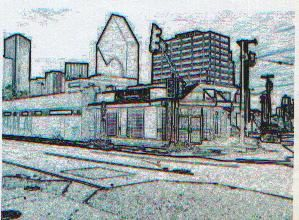 """Drawing titled """"Mckinney at Harwood"""" by Don Fullen, Original Art,"""