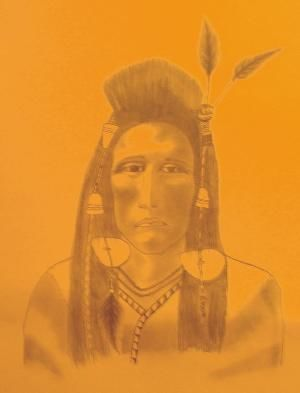"""Drawing titled """"Native"""" by Don Fullen, Original Art,"""