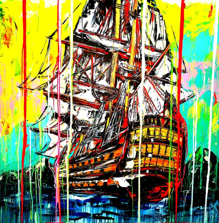 """Painting titled """"Use any wind to go…"""" by Antoni Dragan, Original Art, Acrylic"""