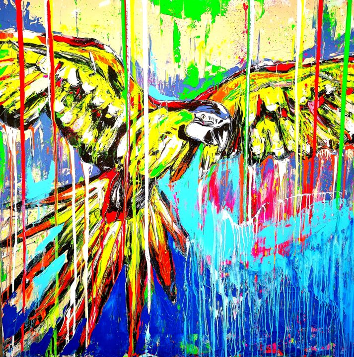 """Painting titled """"Your wings exist, f…"""" by Antoni Dragan, Original Art, Acrylic"""