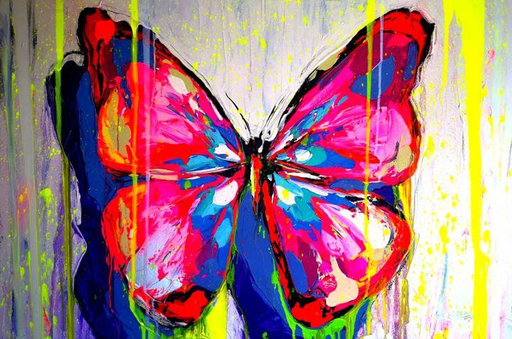 """Painting titled """"Summer Butterfly"""" by Antoni Dragan, Original Art, Acrylic"""