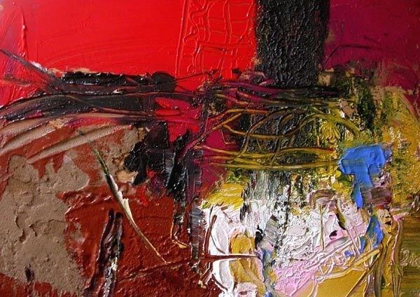 abstraction I - Painting,  11.4x15.4 in, ©2007 by Jacques Donneaud -                                                              abstraction