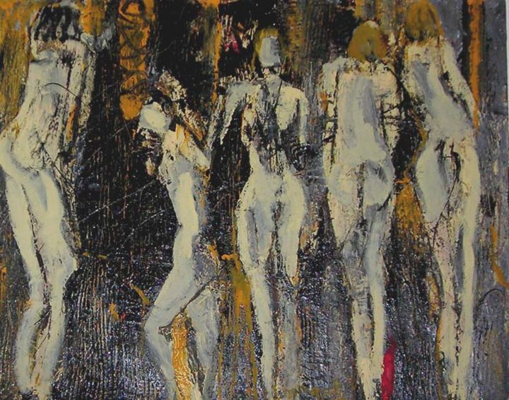 Painting, acrylic, abstract, artwork by Jacques Donneaud