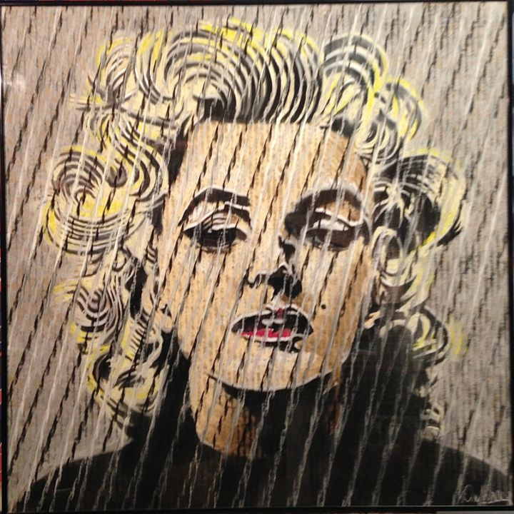 """Drawing titled """"Marilyn 2"""" by Don Weber, Original Art, Pastel"""