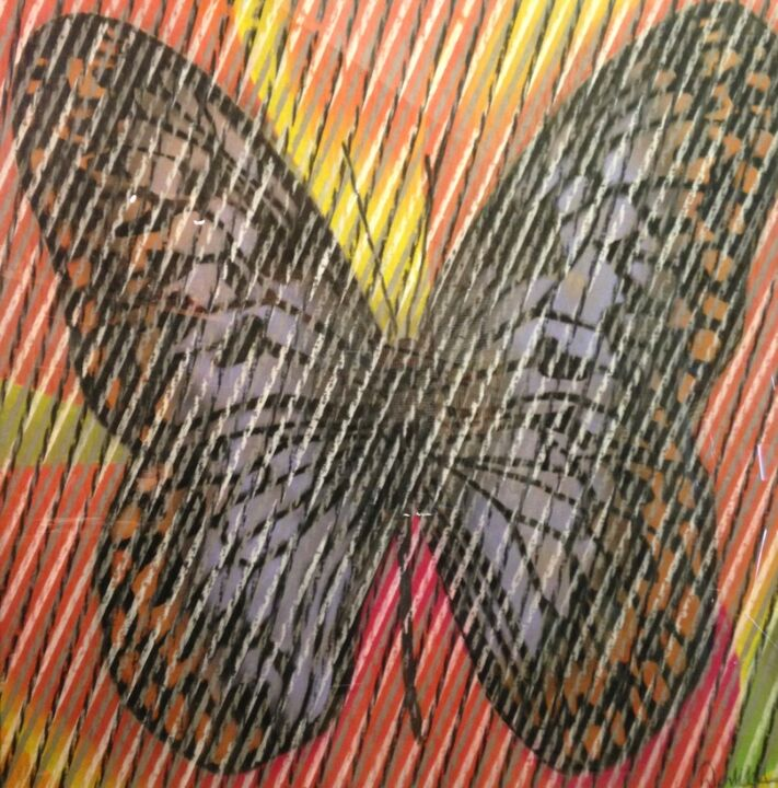 """Drawing titled """"Butterfly Series 1"""" by Don Weber, Original Art, Pastel"""