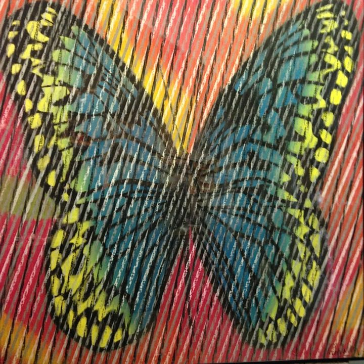 """Drawing titled """"Butterfly Series 3"""" by Don Weber, Original Art, Pastel"""