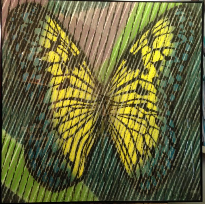 """Drawing titled """"Butterfly Series 4"""" by Don Weber, Original Art, Pastel"""