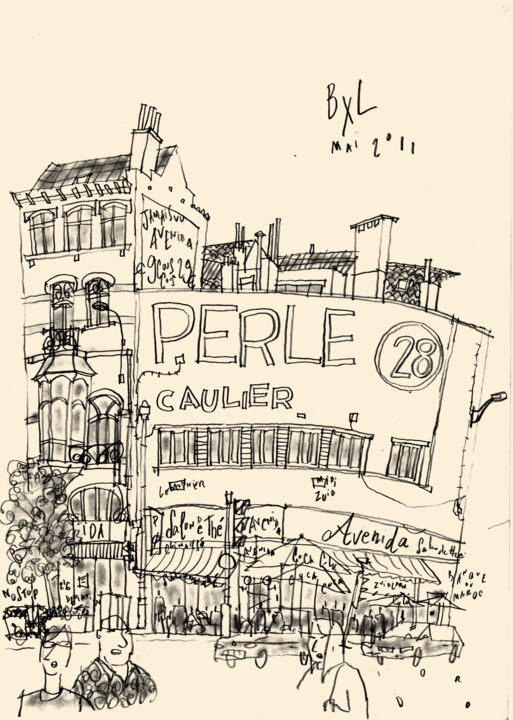 """Drawing titled """"Perle 28"""" by Philippe Doro, Original Art, Pencil"""