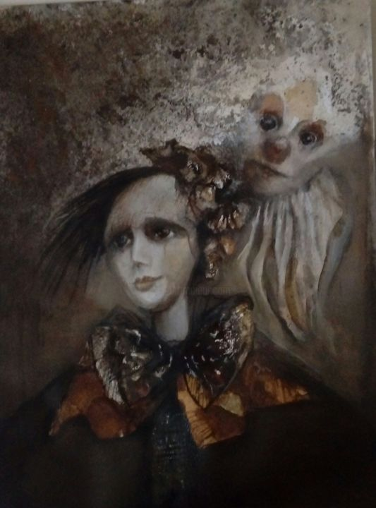 """Painting titled """"Sin titulo"""" by Dorota Leniec-Lincow, Original Art, Watercolor"""