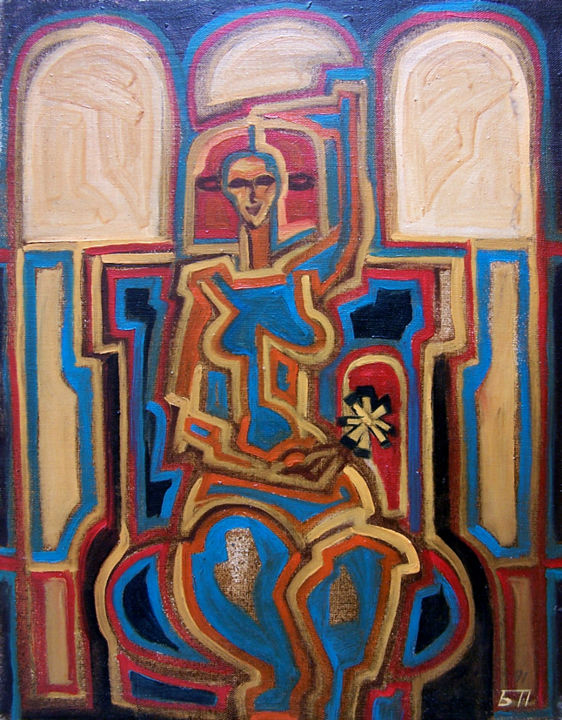 Figure 2 - Painting,  51x40 cm ©1993 by Biser Panayotov -                                            Contemporary painting, Canvas, art