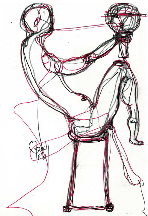 11-oct 2013 - Drawing,  8.3x5.5 in, ©2013 by Dov Melloul -                                                              +DESSINS +ART NOUVEAU+++++++