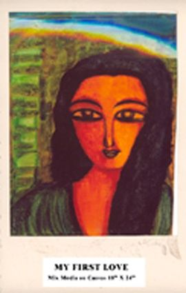 """Painting titled """"My First Love"""" by Nabakishore, Original Art,"""