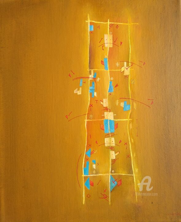 """Painting titled """"Autumn steps"""" by R.A.Cicero, Original Art, Oil"""