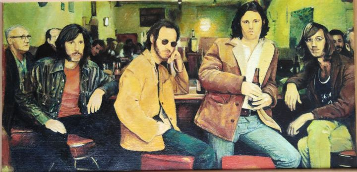 """Painting titled """"The Doors"""" by Dragoljub Jovicic, Original Art, Oil Mounted on Wood Panel"""