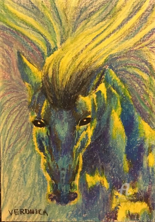 """Painting titled """"Horse from the sea-…"""" by Veronica, Original Art, Oil"""