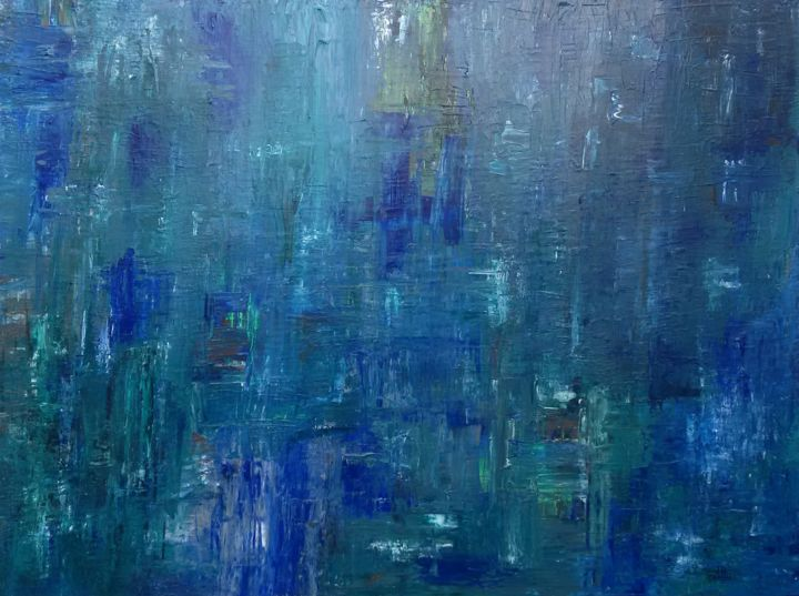 Green Blue Abstract No 42 Malerei Von Dr Defiant Artmajeur