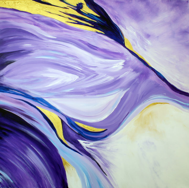 """Painting titled """"Passion"""" by Pauladriscolldesign Paula Driscoll, Original Art, Acrylic"""