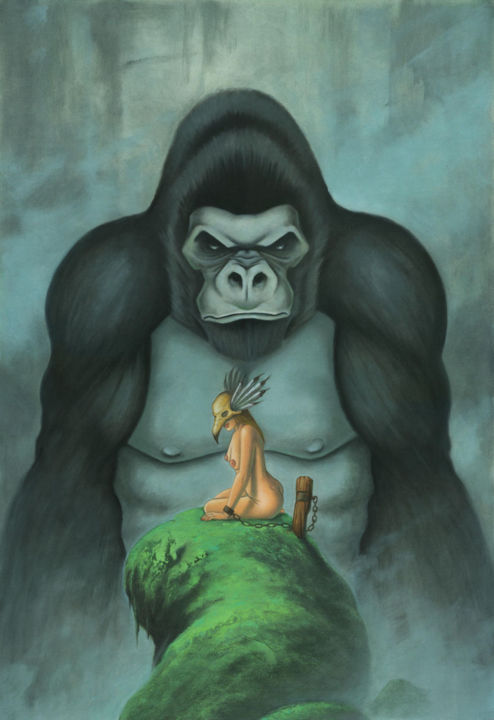 """Painting titled """"kong.jpg"""" by Stacy Drum, Original Art, Oil"""