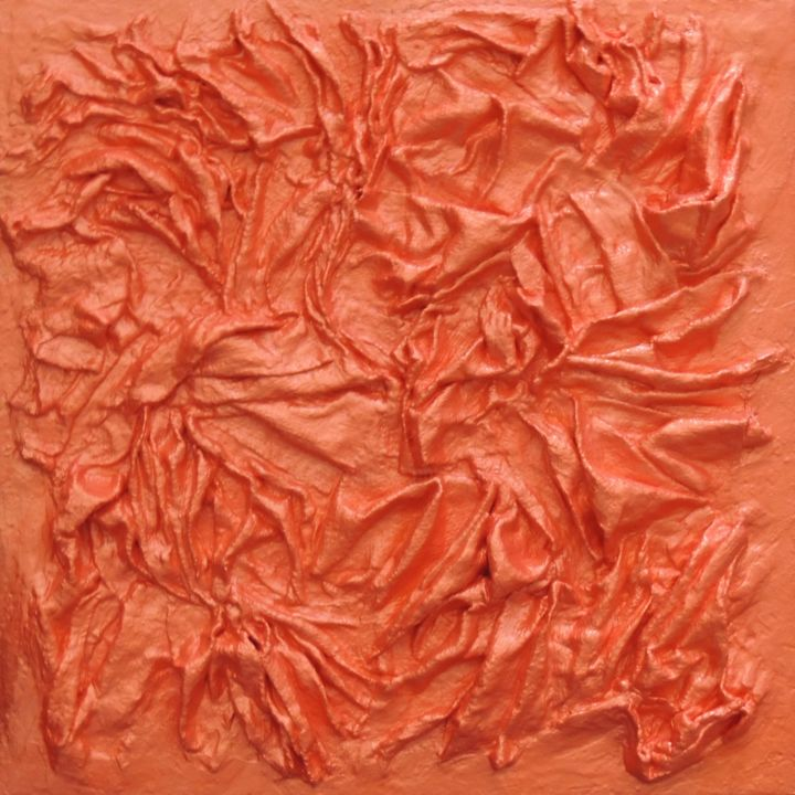 Cornaline - Painting,  30x30 cm ©2014 by DS Abstract Art paintings -                                            Abstract Art, Canvas, DS paintings, Peinture acrylique, Peinture abstraite, Cornaline, Peinture orange, Art abstrait, Orange