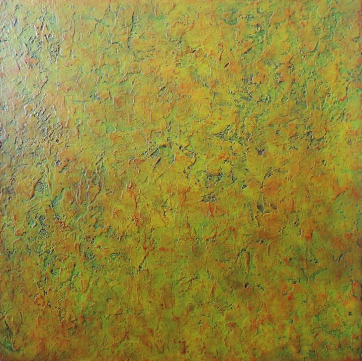 Amazonia - Painting,  80x80 cm ©2015 by DS Abstract Art paintings -                                            Abstract Art, Canvas, DS artiste peintre abstrait, Peinture acrylique, abstrait, Amazonia, DS paintings, Peinture Design