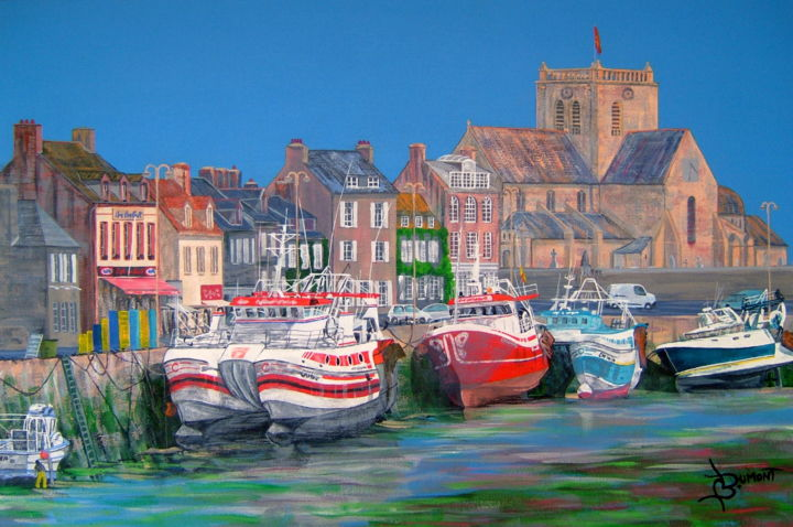 barfleur - Painting,  60x40 cm ©2012 by Bruno Dumont -                        Contemporary painting