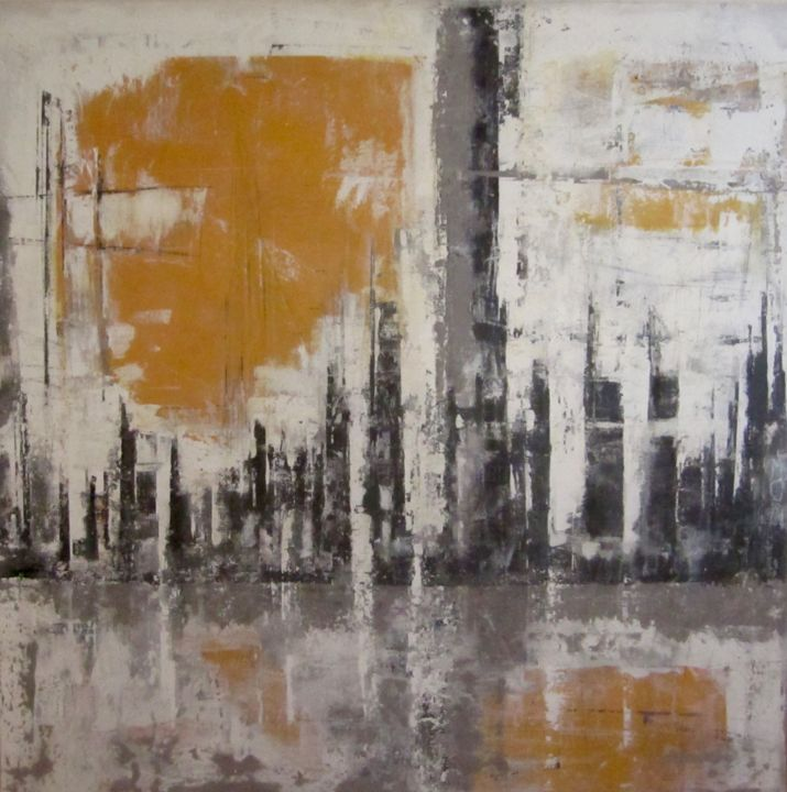 soleil-levant-100x100-copie-1.jpg - Painting,  100x100 cm ©2012 by Catherine Duperray -