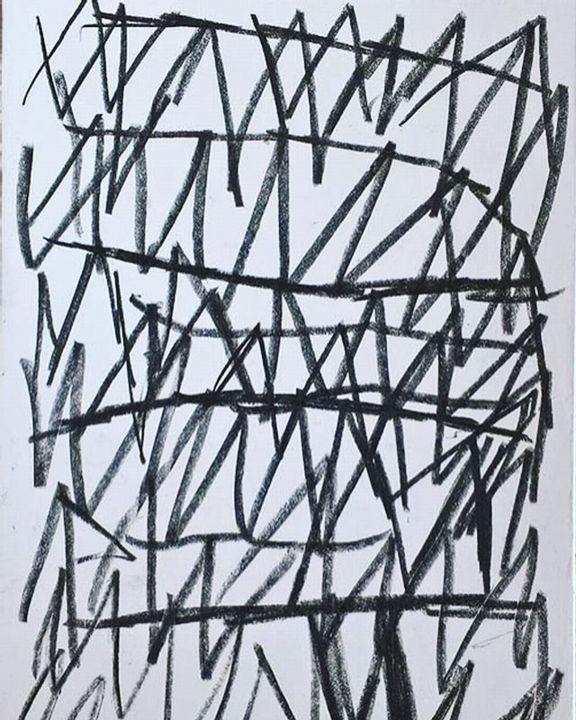 1 - Dessin,  13,8x9,8x0,4 in, ©2018 par Dusan Stosic -                                                                                                                                                                                                                                                                                                                                                                                                          Abstract, abstract-570, Art abstrait, new art, contemporary art, contemporary drawing, paper, pencil