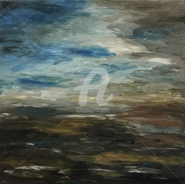 """Painting titled """"Storm"""" by David Vall, Original Art, Acrylic"""
