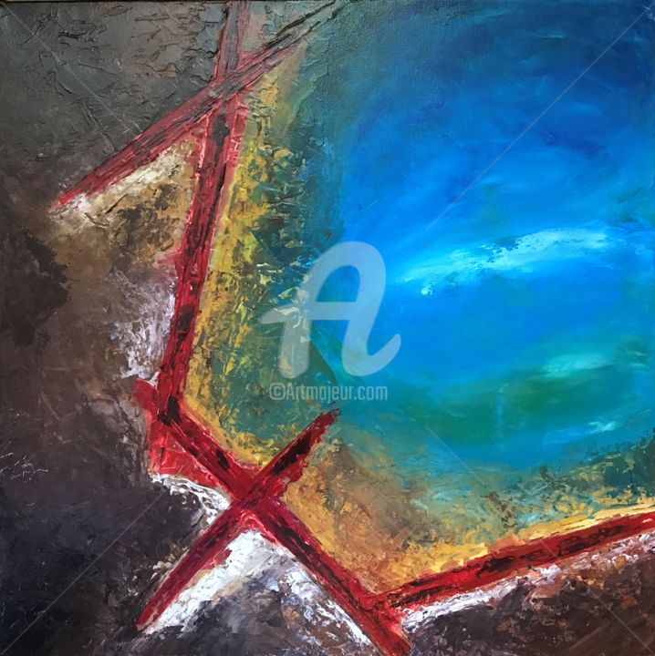 """Painting titled """"Fracture"""" by David Vall, Original Art, Acrylic"""