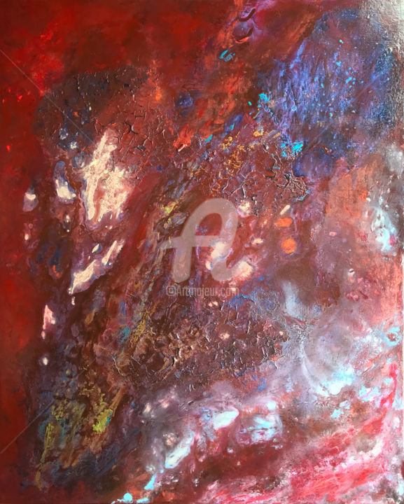"""Painting titled """"Meteor"""" by David Vall, Original Art, Acrylic"""