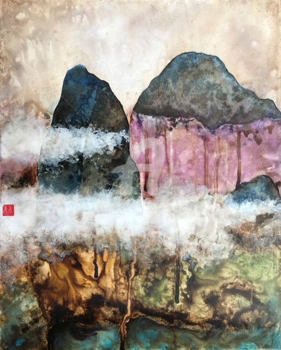 """Painting titled """"Crying Mountains"""" by David Vall, Original Art, Acrylic"""