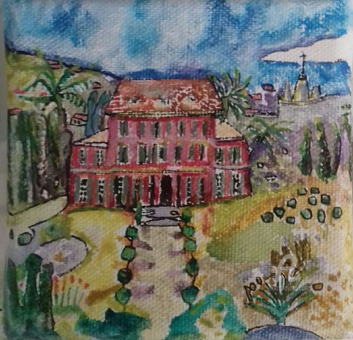 Musee Matisse - Painting,  10x10 cm ©2017 by dyguiluge -