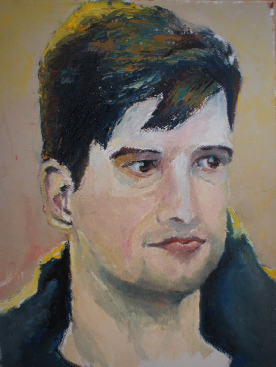 bogdan.jpg - Painting,  24x18x4 cm ©2015 by Dzogaz -                                                                                Figurative Art, Realism, Canvas, Men, Portraits