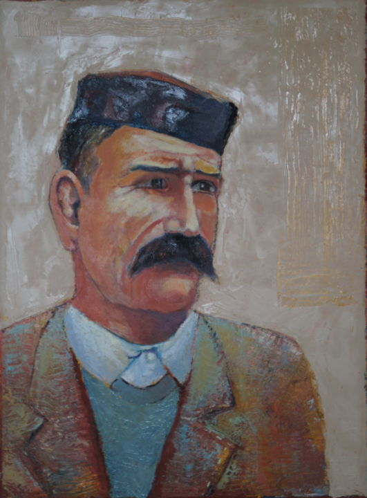 montenegrin.jpg - Painting,  40x30x2 cm ©2015 by Dzogaz -                                                                                Figurative Art, Folk, Portraiture, Canvas, People