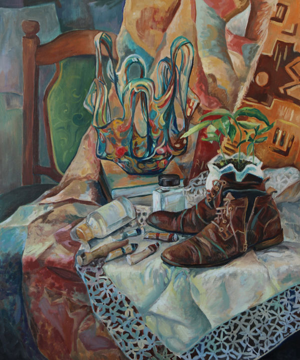 """Painting titled """"Shoes"""" by Anastazja Dżupina, Original Art, Oil"""