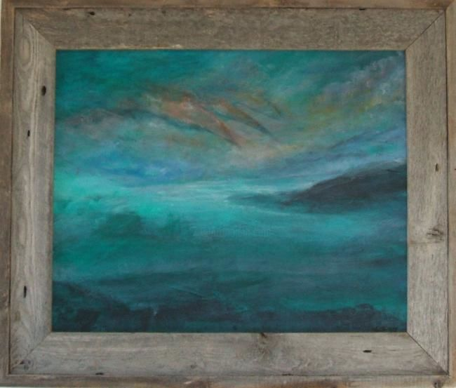 """Painting titled """"Sea Island"""" by Art By Linda, Original Art, Oil"""