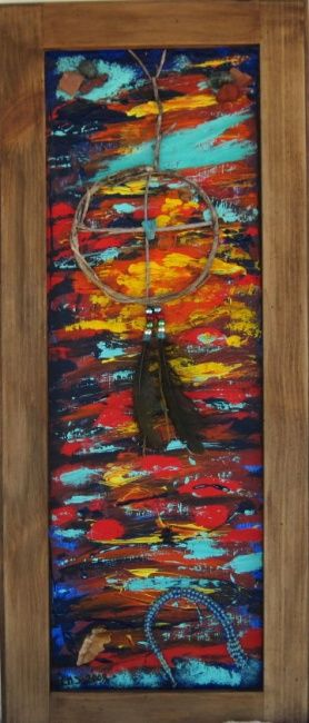 """Painting titled """"The Medicine Wheel"""" by Art By Linda, Original Art, Oil"""