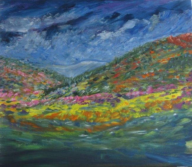 """Painting titled """"Nature's Pallet"""" by Art By Linda, Original Art, Oil"""