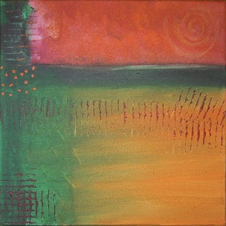 """Painting titled """"August"""" by Gina Acord, Original Art,"""