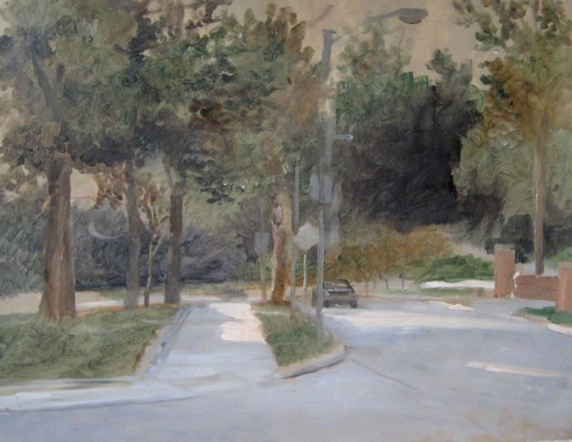 Near JHU - Painting ©2009 by Eb -