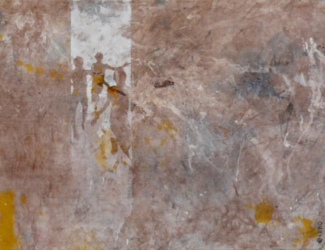 Echappée belle - Painting,  35x46.1 in, ©2011 by Ebro -