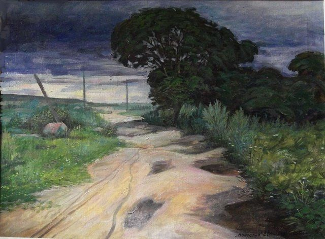 Street of my childhood - Painting,  40x60 cm ©2012 by Евгений Чекалов -  Painting, Oil