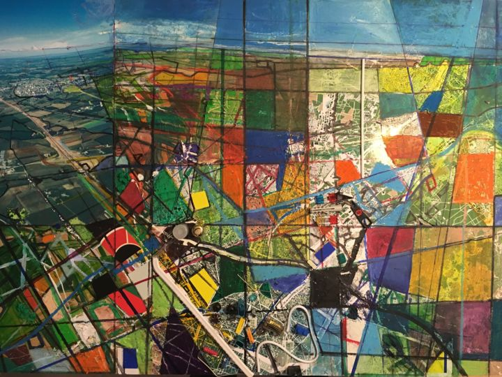 TERRITOIRES PANORAMIQUES - Mixed Media,  50x60x5 cm ©2018 by Edcha -