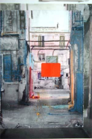 OLD PARIS - Mixed Media,  50x45 cm ©2004 by Edcha -