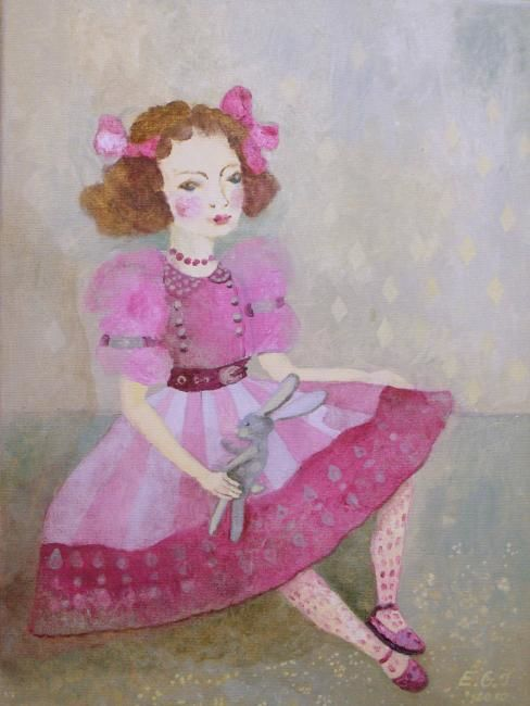 """Painting titled """"doll II"""" by Edita Januskeviciene, Original Art, Other"""