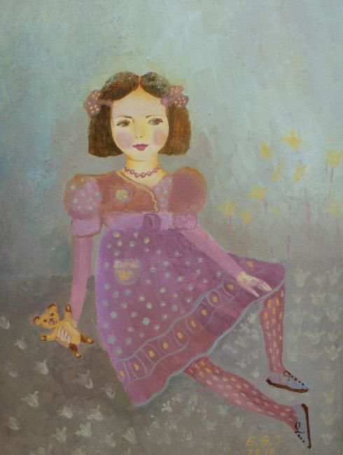 """Painting titled """"doll III"""" by Edita Januskeviciene, Original Art, Other"""